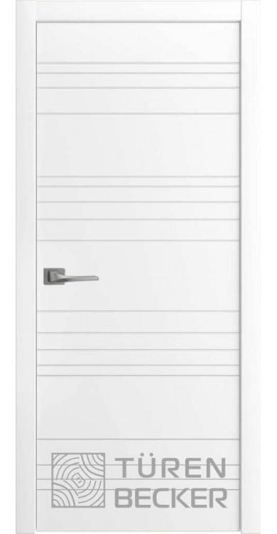 Дверь Соммер ПГ белая эмаль