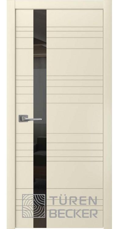 Дверь Соммер ПО (стекло - черный лакобель) латте