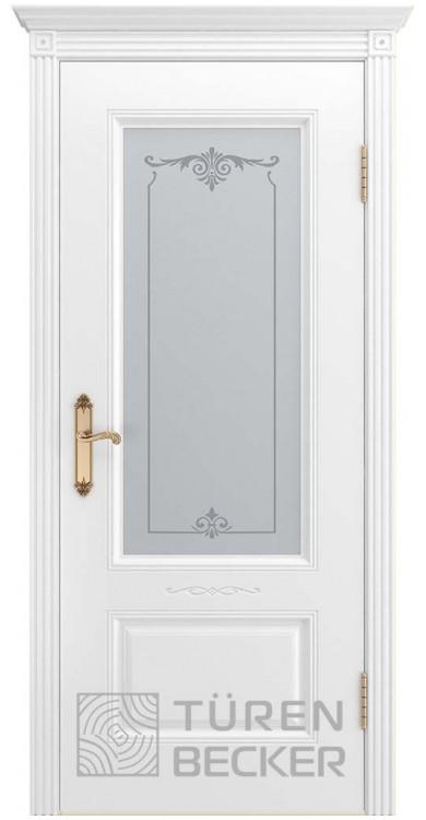 Дверь ВЕНЕЦИЯ В1 ПО белая эмаль